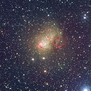 IC 10 Irregular galaxy in the constellation Cassiopeia