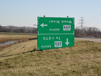 Illinois Route 255 - Image: ILL255exit 2signs