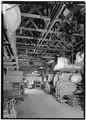 INTERIOR VIEW SHOWING TRUSSES - Speed Changing Pulley Company Factory, Thirty-second Street, Anderson, Madison County, IN HAER IND,48-AND,5-9.tif