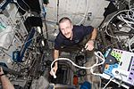 ISS-30 Dan Burbank uses the Integrated Cardiovascular Resting Echo Scan.jpg