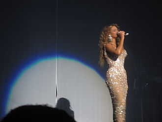 "At Last - Beyoncé performing ""Listen"" and ""At Last"" during her I Am... World Tour wearing a long gown."
