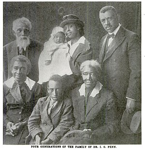 Irvine Garland Penn - I. Garland Penn and four generations of his family