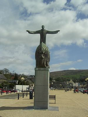 Brendan - Sculpture of St Brendan, The Square Bantry, County Cork