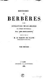 histoire des berbères ibn khaldoun pdf