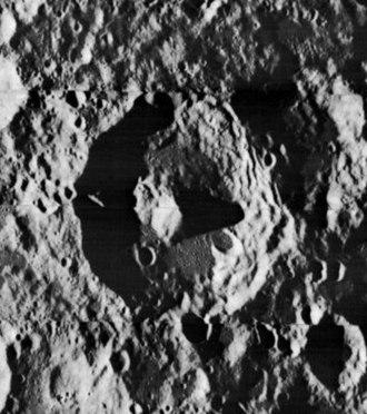 Icarus (crater) - Lunar Orbiter 2 image
