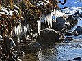 Icicles at the side of the burn - geograph.org.uk - 714377.jpg