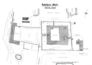 Ightham Mote - Image: Ightham Mote Area plan 01