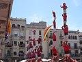 Igualada 2013 - Pilars de comiat de les 3 colles.JPG
