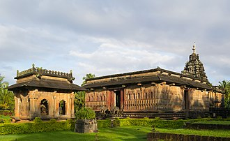 Ikkeri - Aghoreshwara Temple, in Hoysala-Kadamba architecture, Keladi Nayaka period