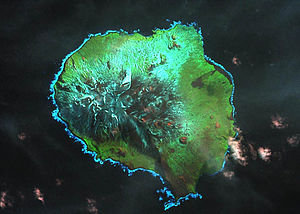 Île aux Cochons - Satellite image of the island