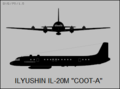 Ilyushin Il-20M Coot-A two-view silhouette.png