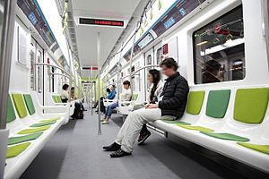 Buenos Aires Underground 200 Series - Interior of one of the cars