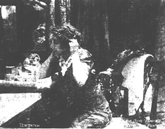 In the Bishop's Carriage - Scene from the film as published in a contemporary newspaper.