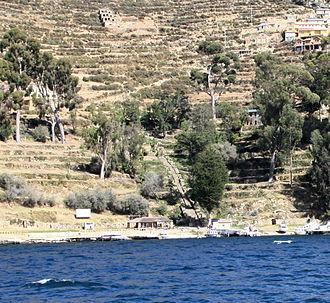 Isla del Sol - Inca stairs in Yumani, Isla del Sol