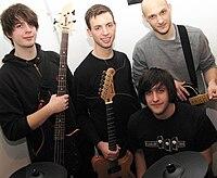 Die Band Incut: Addy , Luis, Manuel (oben, von links nach rechts) und Mario (unten)