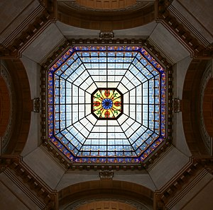 Glass dome of the Indiana State Capitol