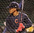 Indians shortstop Francisco Lindor takes batting practice at Wrigley Field. (30526409532).jpg
