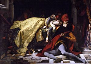 Francesca da Rimini - The death of Francesca da Rimini and Paolo Malatesta by Alexandre Cabanel (1870).