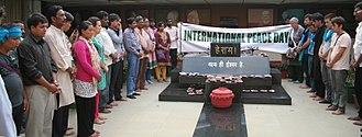 International Day of Peace - International Peace Day ceremony, organised by Ekta Parishad, Gandhi Bhawan, Bhopal, India, September 2014