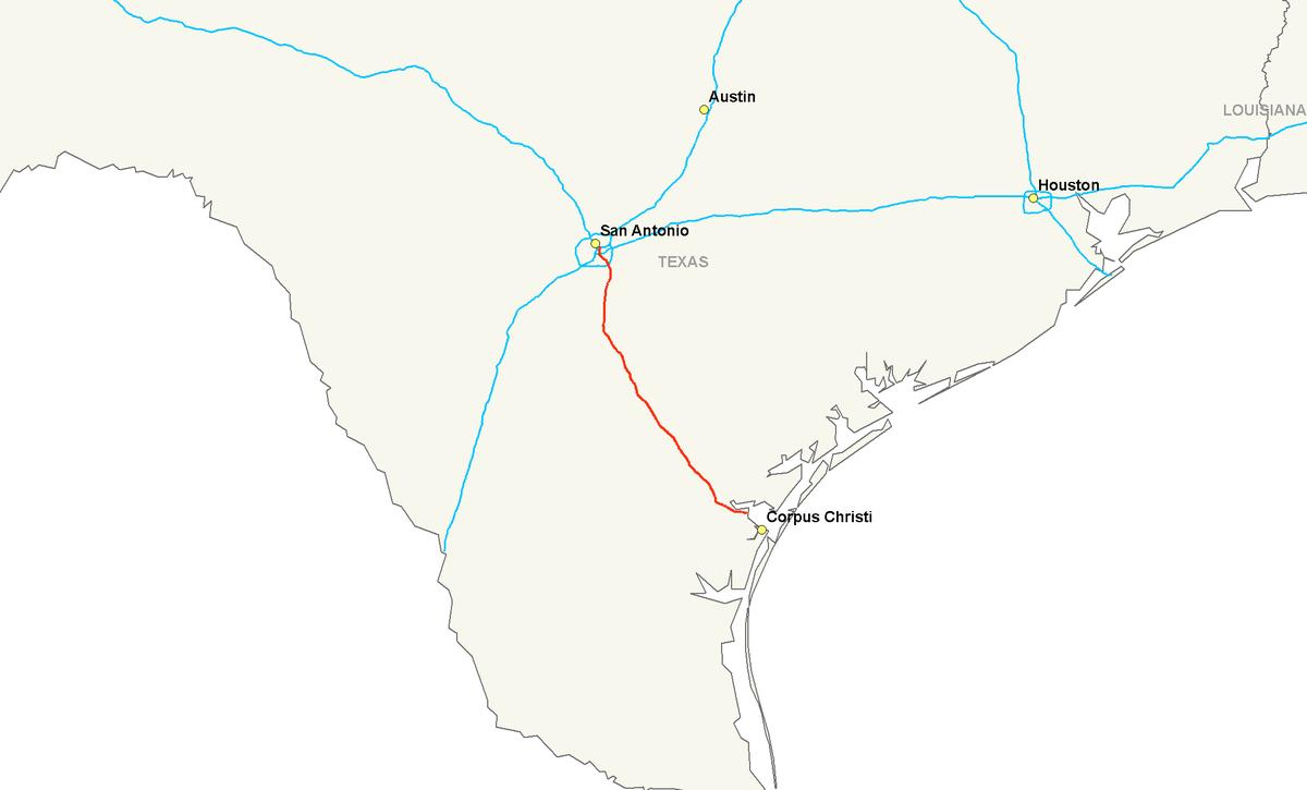 Interstate Wikipedia - Texas interstate map