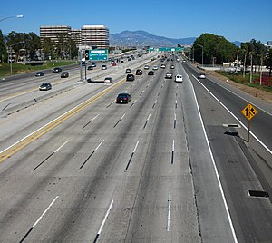 English: Interstate 405 at Costa Mesa, Orange ...