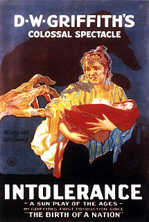 <i>Intolerance</i> (film) 1916 silent film epic by D. W. Griffith