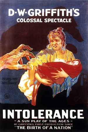 Art film - Theatrical release poster for Griffith's Intolerance (1916), often referred to as the first art film