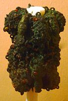 Intricate ornamental staff head, 9th century, bronze, Igbo-Ukwu.JPG