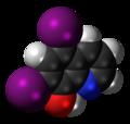 Iodoquinol 3D spacefill.png