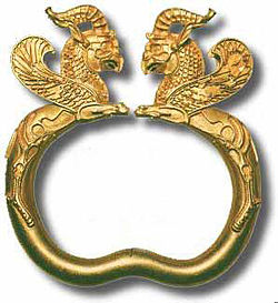 Ancient bracelet, Achaemenid period, 500 BCE, Iran