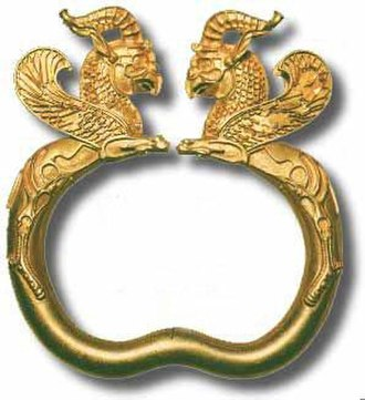 Bracelet - Ancient bracelet, Achaemenid period, c. 500 BCE, Iran.