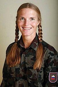 Irena Avbelj in military uniform.jpg