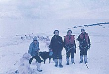 Irene Bernasconi and others in 1968 at Esperanza Base.