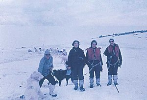 Women in Antarctica - Irene Bernasconi and others in 1968 at Esperanza Base