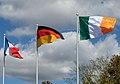 Irish flag being hoisted at ESO's Headquarters (44228889774).jpg