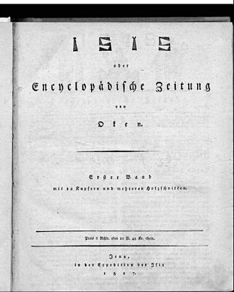 Lorenz Oken - Isis frontipage (1817)