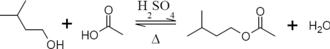 Isoamyl acetate - Image: Isoamyl acetate synthesis