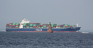Hanjin Heavy Industries - Container ship Ital Lunare was built by Hanjin Heavy Industries in 2007