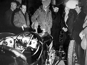 George Cholmondeley, 5th Marquess of Cholmondeley - Image: Italo Balbo all'Alfa Romeo