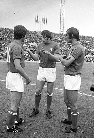 Giorgio Chinaglia - Rivera, Chinaglia and Pulici with the Italian national team in 1973.