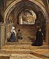 Jørgen Roed - La scala Santa i klosteret San Benedetto ved Subiaco - 1857.jpg