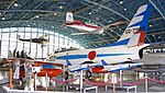 JASDF F-86F(02-7960) left rear view at Hamamatsu Air Base Publication Center November 24, 2014.jpg