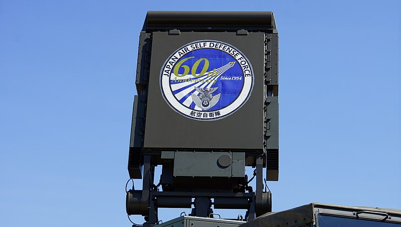 File:JASDF Type 11 SAM(Fire Control System, 46-8488) AESA radar at Hamamatsu Air Base September 28, 2014.jpg