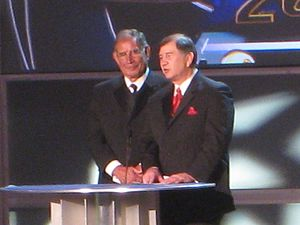 Gerald Brisco - Brisco (right) with his brother Jack being inducted into the WWE Hall of Fame in 2008.