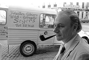 Jacques Calonne - Jacques Calonne in 1978 at Grand Sablon Square, Brussels. Courtesy photographer Peter Johansen.