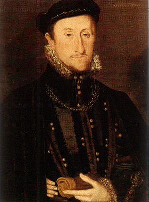 James Stewart, 1st Earl of Moray - The Earl of Moray, a detail from a wedding portrait by Hans Eworth