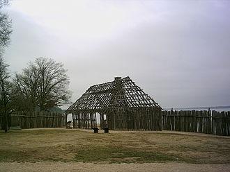 Historic Jamestowne - Image: Jamestown Barracks Reconstruction