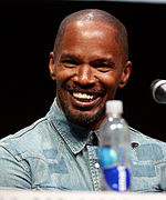 Photo of Jamie Foxx at the San Diego Comic-Con International promoting The Amazing Spider-Man 2.