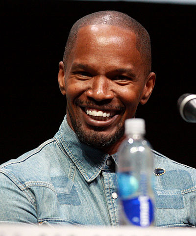 Jamie Foxx, American actor, comedian, singer, presenter, and producer from Texas