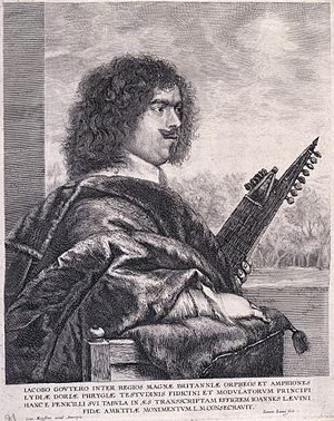 Jacques Gaultier - Jacques Gaultier, engraving by Jan Lievens (1632)